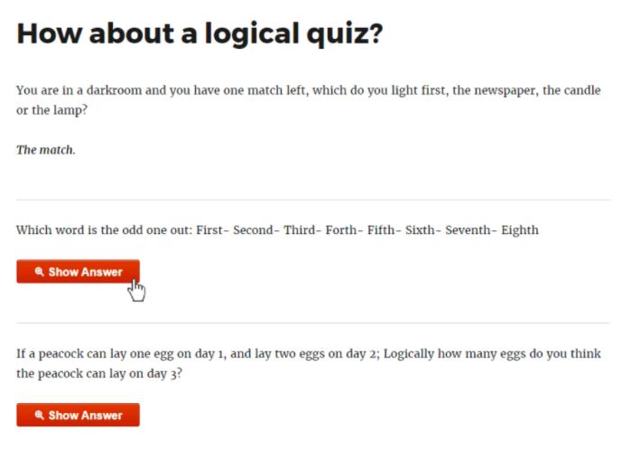 Logical Quiz