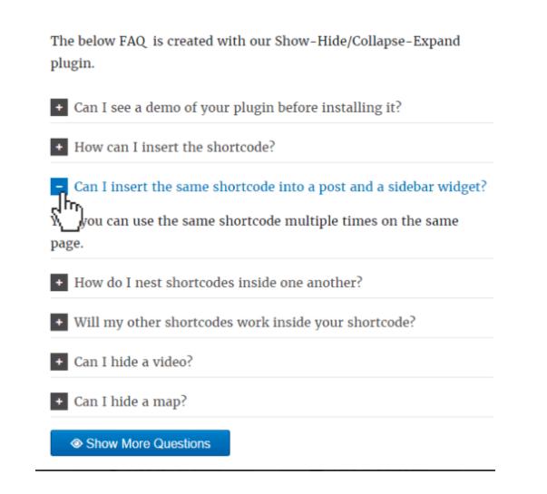 ShowHide - FAQ